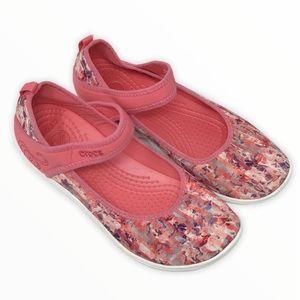 Crocs | Pink Duet Busy Day Floral Flats Juniors 4